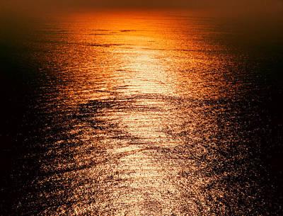 Golden Sea In Alanya Poster