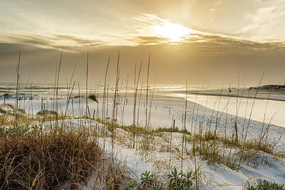 Golden Seagrove Beach Sunset Poster