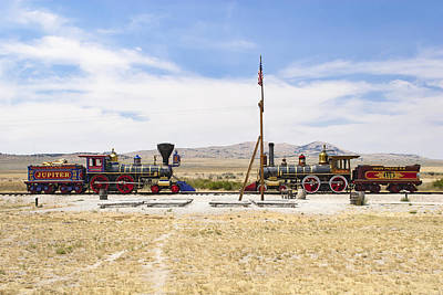Golden Spike Locomotives Poster