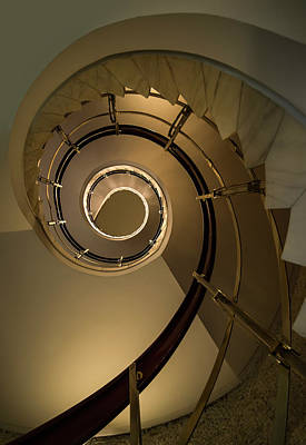 Golden Spiral Staircase Poster