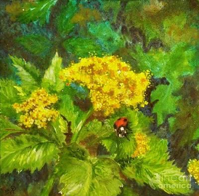 Golden Summer Blooms Poster