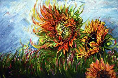 Golden Sunflowers - Harsh Malik Poster