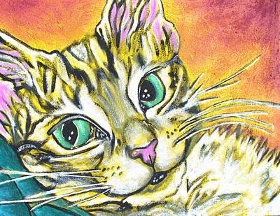 Golden Tabby Poster by Sarah Crumpler
