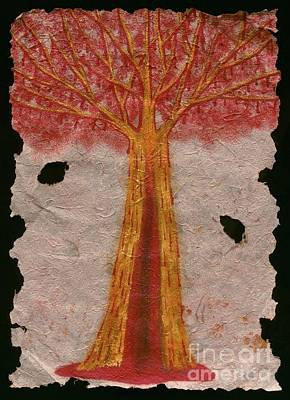 Golden Trees Crying Tears Of Blood Poster by Talisa Hartley