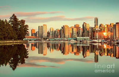 Golden Vancouver Poster by JR Photography