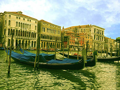 Poster featuring the photograph Golden Venice by Anne Kotan