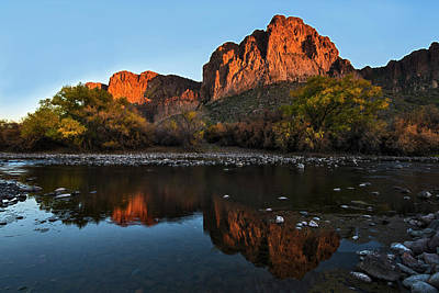 Poster featuring the photograph Goldfield Mountains On The Salt River by Dave Dilli