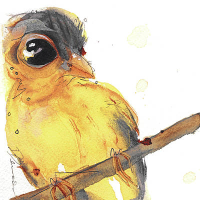 Poster featuring the painting Goldfinch by Dawn Derman