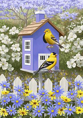 Goldfinch Garden Home Poster