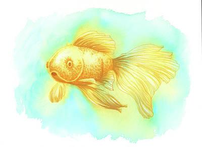 Goldfish, Orange Poster by Nicole Hanusek