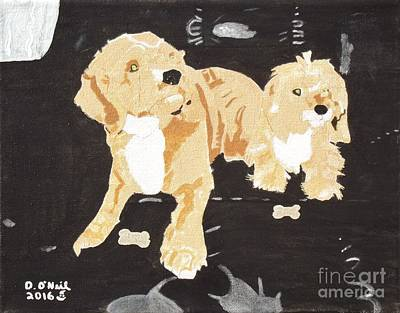 Goldie And Myles Chillin Poster by Dennis ONeil