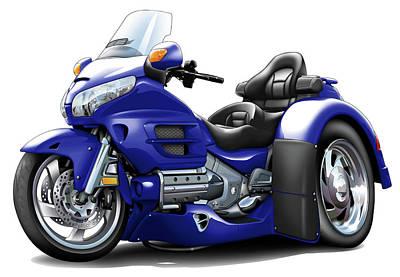 Goldwing Dark Blue Trike Poster