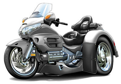 Goldwing Grey Trike Poster