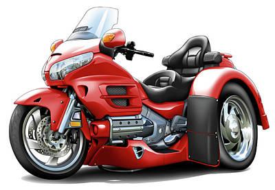 Goldwing Red Trike Poster