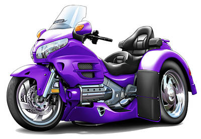 Goldwing Trike Purple Bike Poster