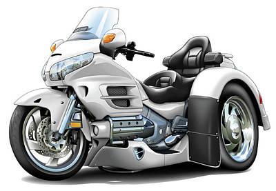 Goldwing White Trike Poster