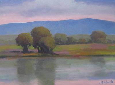 Poster featuring the painting Goleta Estuary by Jennifer Boswell