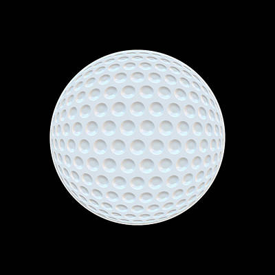 Golf Ball Abstract Poster by Daniel Hagerman