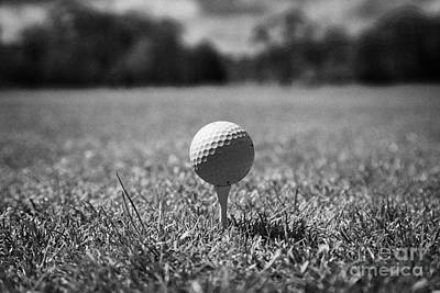 Golf Ball On The Tee Poster by Joe Fox