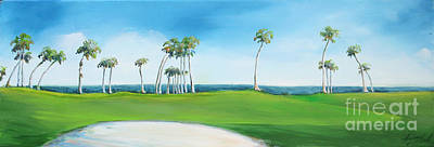 Golf Course With Palms Poster by Michele Hollister - for Nancy Asbell
