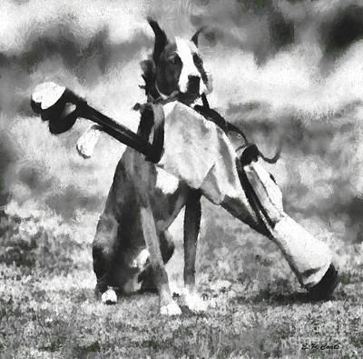 Golf Dog Poster