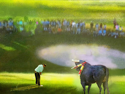 Golf Madrid Masters 03 Poster by Miki De Goodaboom