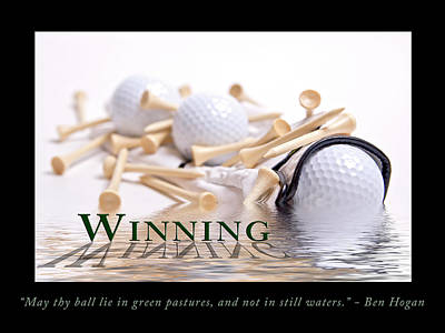 Golf Motivational Poster Poster by Tom Mc Nemar