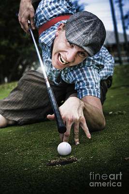 Golf Or Pool Poster