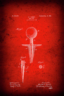 Golf Tee Patent  1899 Poster by Daniel Hagerman