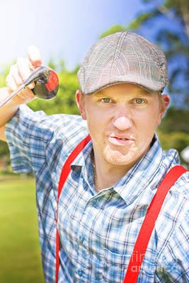 Golfing Dispute Poster