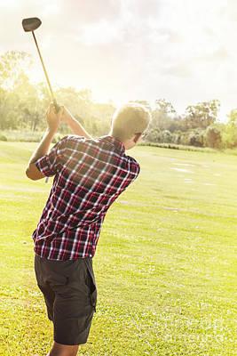 Golfing In Australia Poster