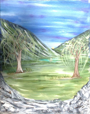 Golfing In Glacier Poster