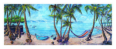Golfo Dulce Beach Scene Poster