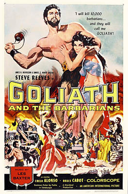 Goliath And The Barbarians 1959 Poster by Mountain Dreams