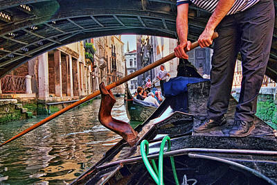 Poster featuring the photograph Gondola 2 by Allen Beatty