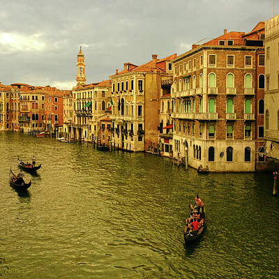 Poster featuring the photograph Gondola Life by Anne Kotan