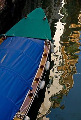 Gondola Reflection Poster