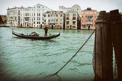 Gondola Ride On A Wet Day Poster