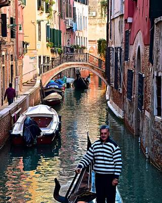 Gondola Ride Through Venice Poster by Frozen in Time Fine Art Photography