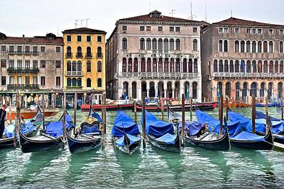 Gondolas Galore Poster by Frozen in Time Fine Art Photography
