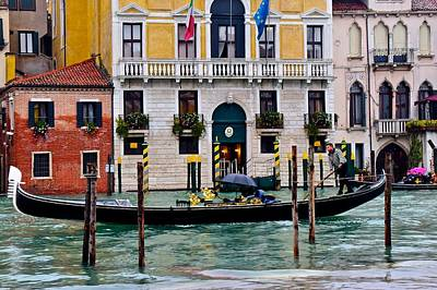 Gondolier At Work Poster by Frozen in Time Fine Art Photography