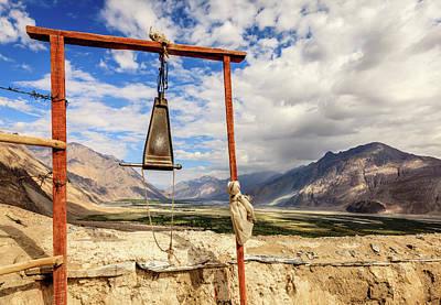 Gong At Diskit Monastery Poster
