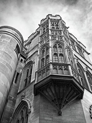 Gonville And Caius College Library Cambridge In Black And White Poster