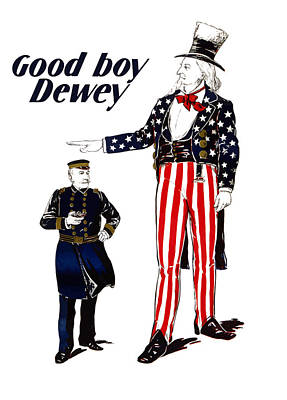 Good Boy Dewey Poster by War Is Hell Store