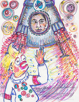 Good Bye, Says The Sock To Pat Manaport Poster by Susan Brown    Slizys art signature name