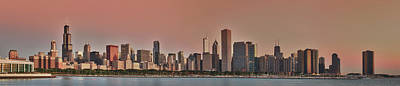 Good Morning Chicago Panorama Poster by Sebastian Musial