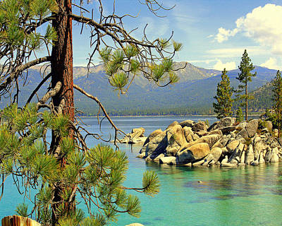 Poster featuring the photograph Good Morning From Lake Tahoe by Lynn Bawden