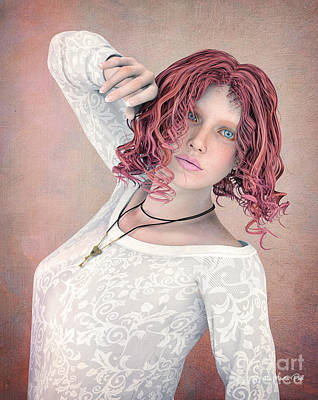 Poster featuring the digital art Good Morning by Jutta Maria Pusl