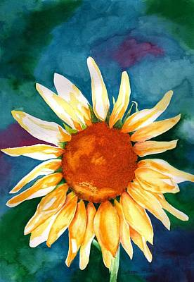 Poster featuring the painting Good Morning Sunflower by Sharon Mick