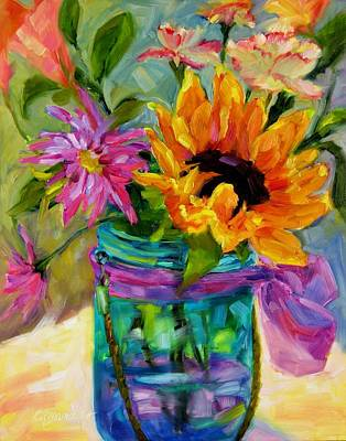 Poster featuring the painting Good Morning Sunshine by Chris Brandley